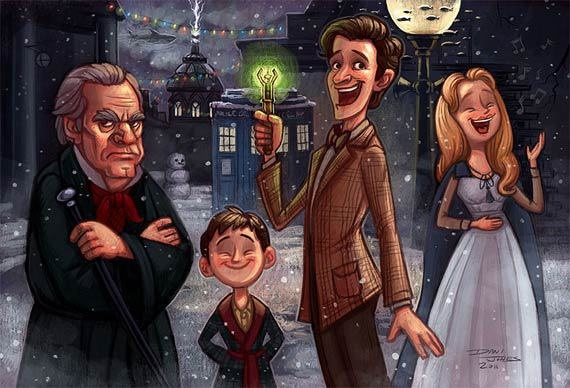 Dr Who's A Christmas Carol. This pic is more of a funny take on it, but the episode itself almost made me cry.
