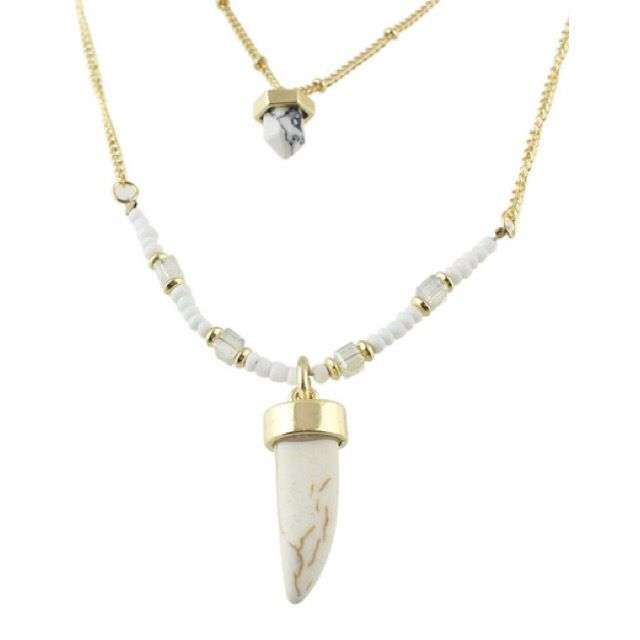 Style: Jewelry - Necklace Colour: Gold - WhiteSKU: Zahara Necklace