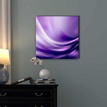 Wall26 - Canvas Prints Wall Art - Electric Waving Purples | Modern Wall  Decor/ Home