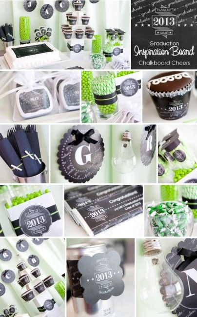 Chalkboard-Inspiration Graduation Party Ideas #graduation party ideas