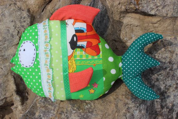 Pillow  Fish, Decorative Pillow, Home Decor Fish, Cool Fish, Children Room Decor