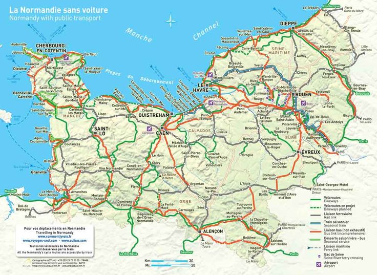 Map of Normandy  © Actual 2015