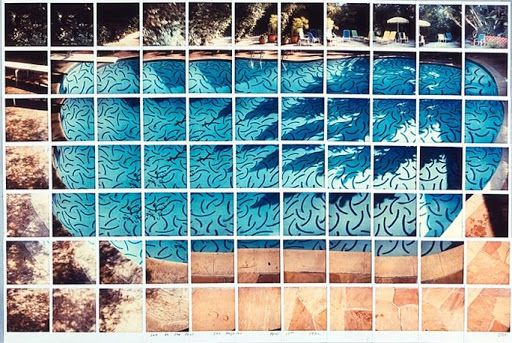 David Hockney, Sun On The Pool, 1982