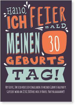 Geburtstagstypo Einladungskarten Geburtstag