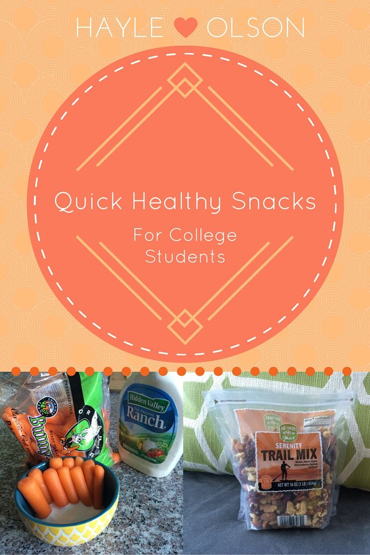 Quick Healthy Snacks for College Students | Hayle Olson | www.hayleolson.com