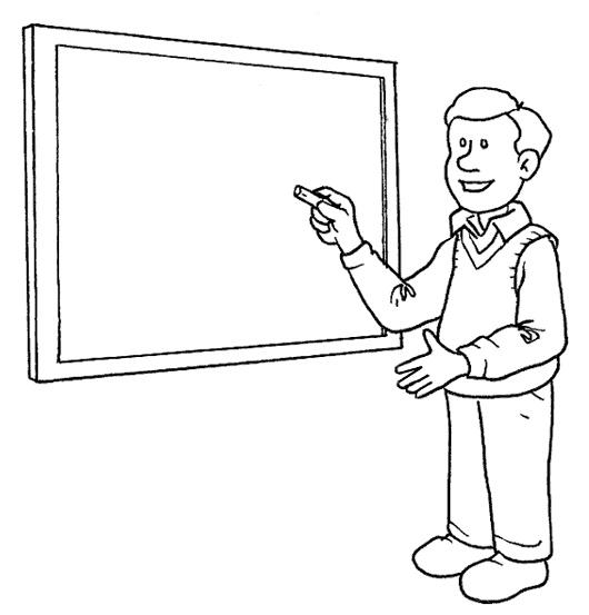 KleuterDigitaal - kp leraar bij schoolbord
