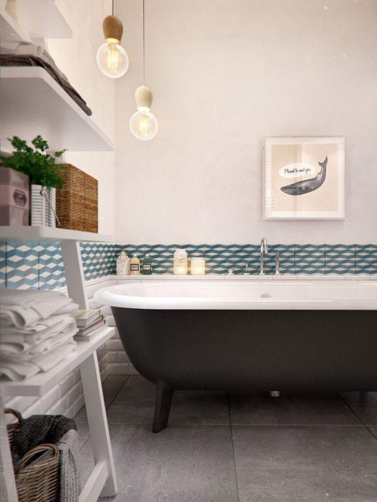 Die besten 25+ Scandinavian bathtubs Ideen auf Pinterest Moderne - inspirationen schwarz weises bad design