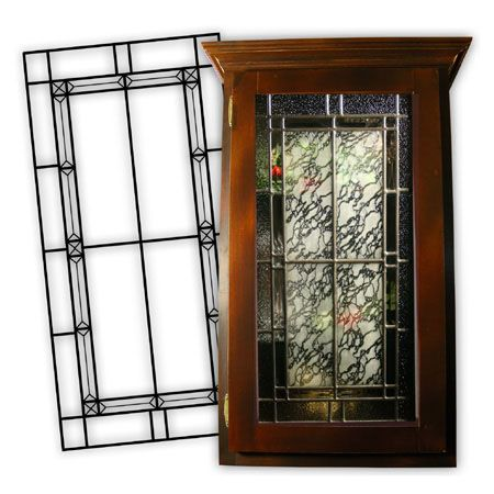 Stained Glass Kitchen Cabinet Inserts | Leaded Glass - Kitchen Cabinet Glass Insert -Stained Glass Design L ...