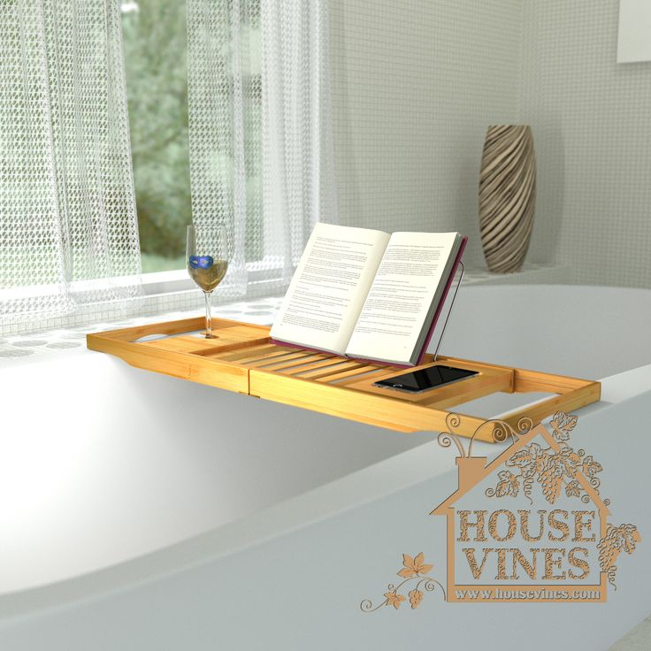 Adjustable bamboo bar that will hold what you are reading  Kindle  iPad   magazine  book  in the exact place needed    Finally  you are able to relax  in the. 17 Best ideas about Bathtub Wine Glass Holder on Pinterest