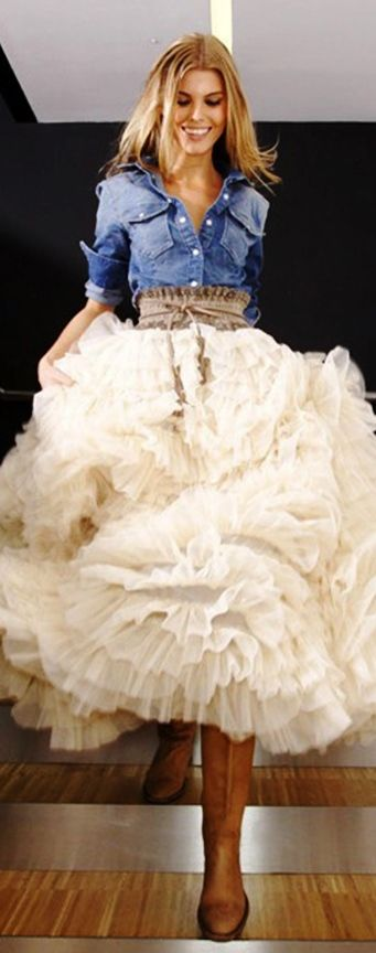 i don't usually like puffy skirts but i guess the picture is pretty