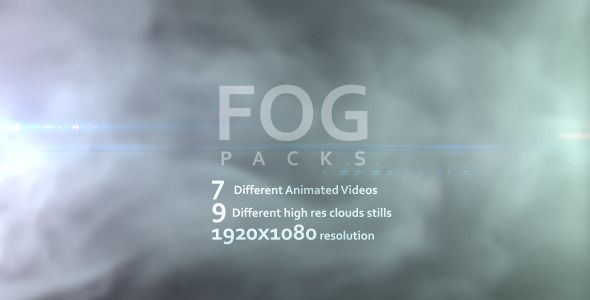 Fog Pack included 7 different animated videos of fog and 9 different high res stills of clouds textures that you can use them to create your own unique fogs. You can use this in your video or title...