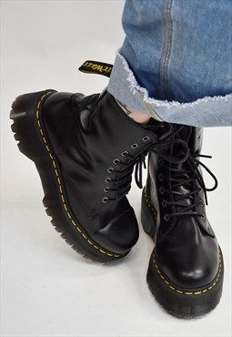Vintage 90s Dr Martens JADON Double Sole 8 Hole Boot UK 7  chunkyshoes 217a55187113