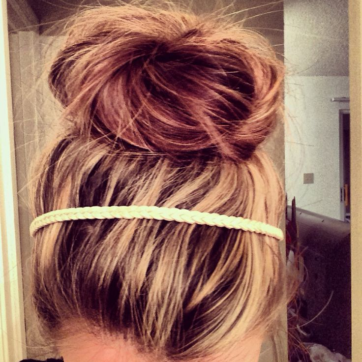 Messy Bun For Long Thick Hair Step 1 Pull Hair Up As If