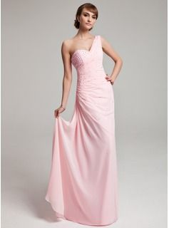 Prom Dresses - $162.99 - A-Line/Princess One-Shoulder Floor-Length Chiffon Prom Dress With Ruffle Beading  http://www.dressfirst.com/A-Line-Princess-One-Shoulder-Floor-Length-Chiffon-Prom-Dress-With-Ruffle-Beading-018004880-g4880