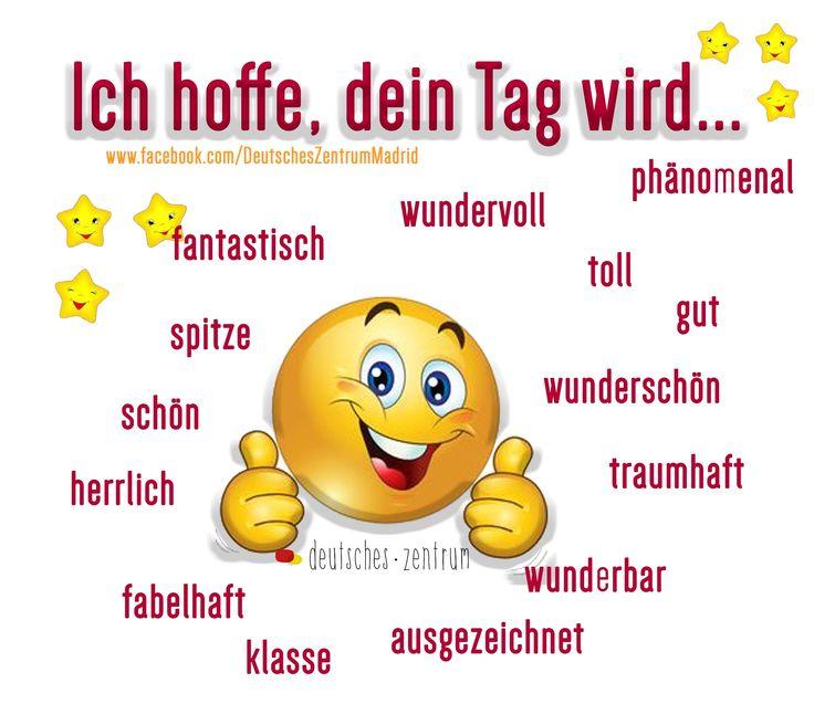 Ich hoffe, dein Tag wird... Deutsch Wortschatz DAF