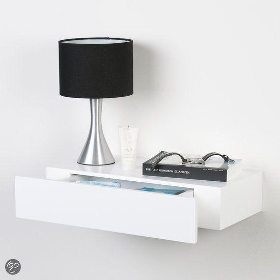 bol.com | Duraline Wandplank met lade - Wit Lak - 48cm | Wonen
