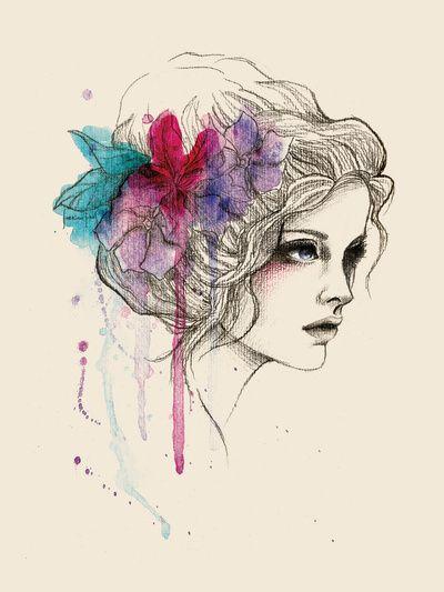 Water Flowers | Sabrina Eras  #illustration