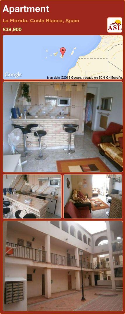 Apartment in La Florida, Costa Blanca, Spain ►€38,900 #PropertyForSaleInSpain
