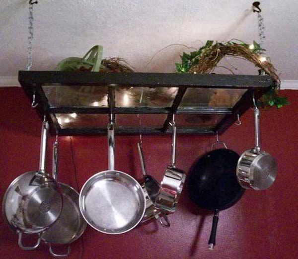 prateira feita com janela reciclada