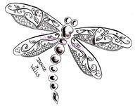 Whimsical Dragonfly Drawings Line drawing dragonfly - google search ...