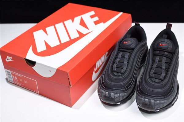 87e6dcff48bd63 Nike Air Max 97 Reflective Logos Black University Red AR4259-001-1. Find  this Pin and ...