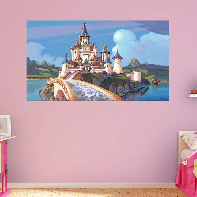 25 unique castle mural ideas on pinterest princess for Castle wall mural