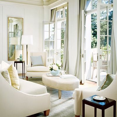 .: Barbara Barry, Lights, Big Window, Idea, Living Rooms, Color Schemes, French Doors, Sit Rooms, Architecture Digest