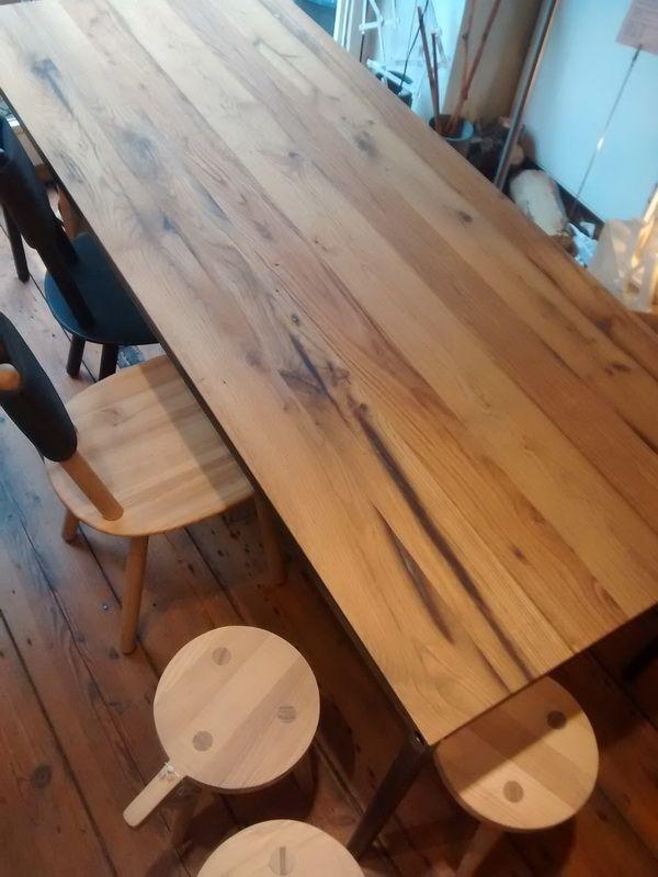 3 Schicht Platte Altholz Eiche Für Tisch Eisenhauer