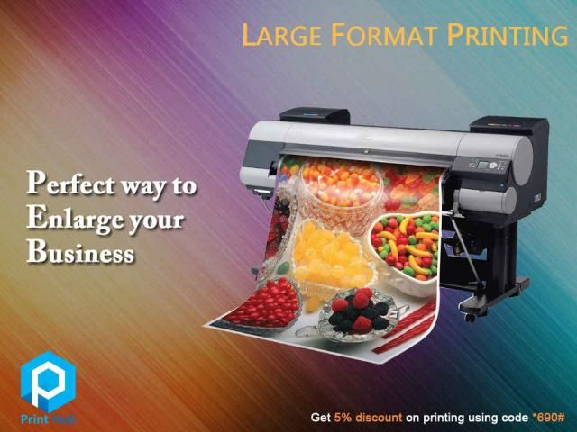 Large Format Printing #PrintHub #LargeFormatPrinting #Printing We are the one-stop service for all your printing needs. A wide range of large format printing services are provided that can satisfy your unique requirements. We keep innovating new products based on current market trends and expectations. We are noticeable for our high resolution, vibrant colors and  professional-quality finish. Tell *690# unique code with us and get 5% #discount #offer for all your printing works.