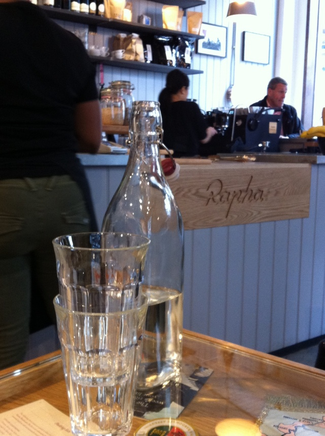 Cafe at Rapha CC, London