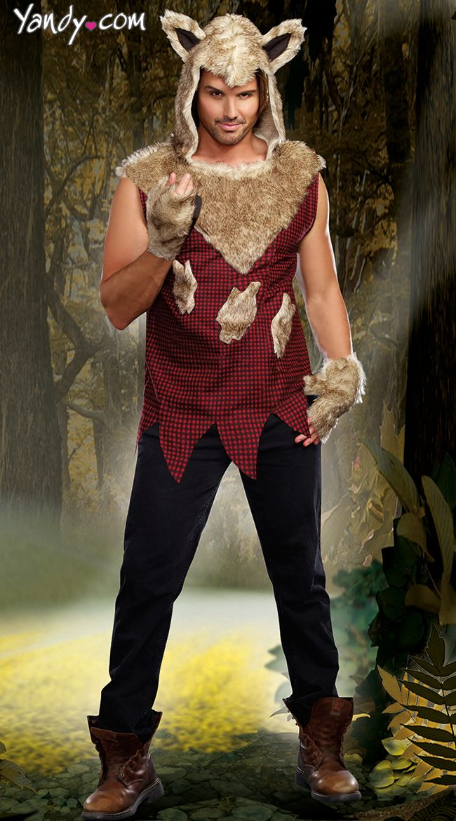Mens Sexy Bad Wolf Costume  Halloween Costumes  Big -6076