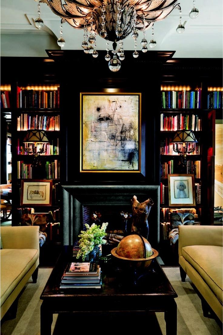 Bookshelves - black with glowy lights