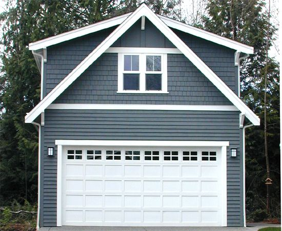 LOVE the look and design of this. It's a full second floor but the faux A frame doesn't make it look like a monstrosity. If doing stone then add stone up the sides of garage. It would even look ok if it wasn't attached.