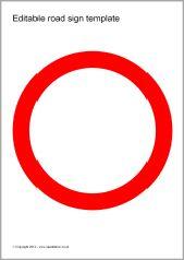 Editable road sign templates (SB8448) - SparkleBox