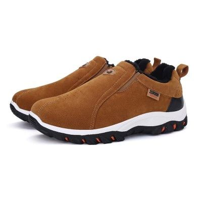 Shoes - $23.99 (coupon: GBShoes2206) Plus Size Outdoor Slip-on Hiking Shoes for Men 45 BROWN   #Shoes, #men,  #gearbest, #кроссовки, #sneakers  1615