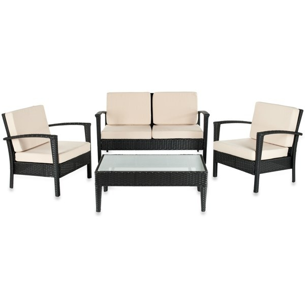 Safavieh Piscataway 4-Piece Patio Set - Brown - Bed Bath & Beyond - 17 Best Images About Yonanas And Bed Bath & Beyond Dream Registry