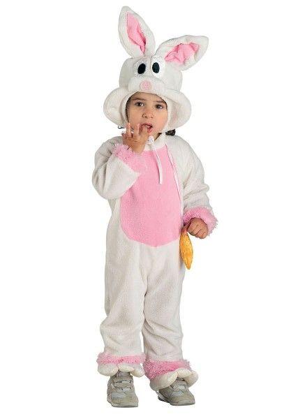 Baby Kostüm Hase, Hasen Kostüm Kleinkind rosa-weiß, Ostern