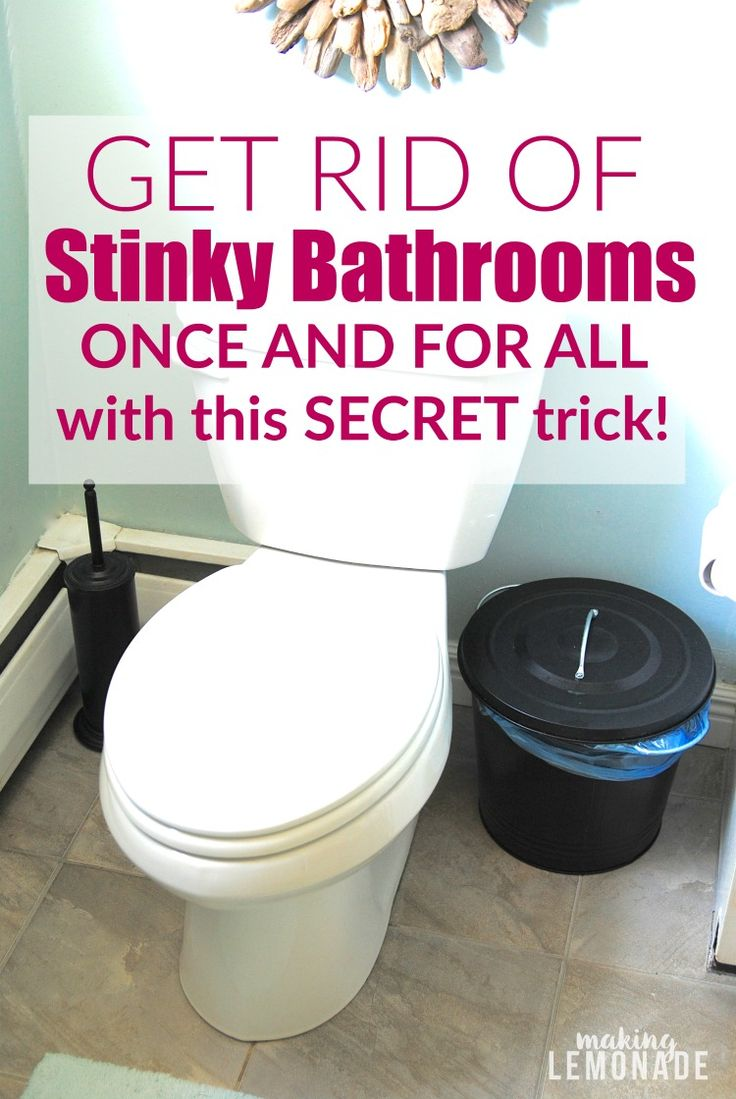 These tips for getting rid of stinky bathrooms once and How to get rid of shower smell