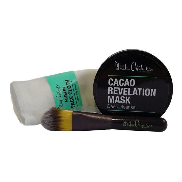 Achieving a radiant, smooth skin tone has never been easier than with the Black Chicken Remedies Cacao Revelation Face Mask!