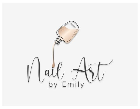 Hi Welcome To Design Loock Studio This Professional Pre Made Logo Design Is Suitable For Nail Studios And Na Nail Logo Salon Logo Design Beauty Salon Logo