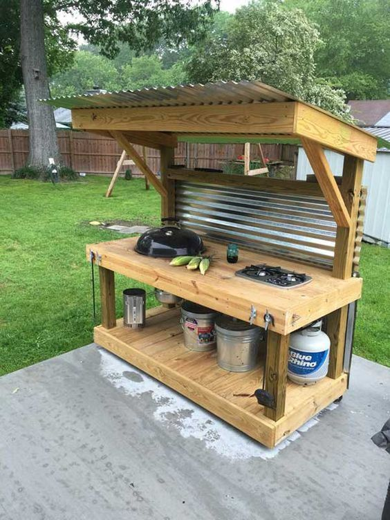 22. Build your own all-in-one portable kitchen and barbecue.