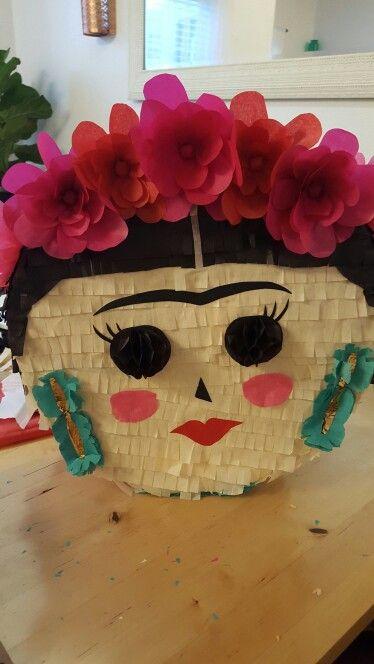 Frida Khalo piñata.                                                                                                                                                      More