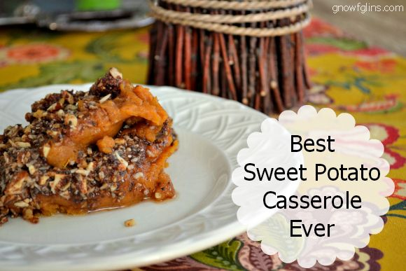 """I'm putting myself on the line by claiming that this is the """"Best Sweet Potato Casserole Ever"""". It hasn't won any awards or a blue ribbon at the State Fair or anything like that. But I can tell you that I never liked sweet potatoes -- until I created this recipe. 
