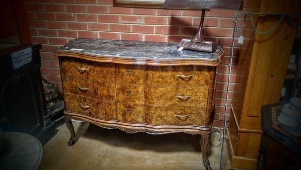 GA1152   -   French Louis XVI mahogany marble top sideboard