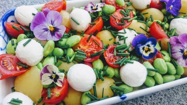 Kartoffelsalat med edamamebønner — MaMeNohr