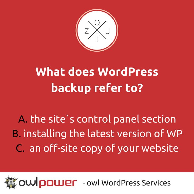 How well do you really know #WordPress? Find out why WordPress #backup is vital >>> http://ow.ly/MghE304qlkR
