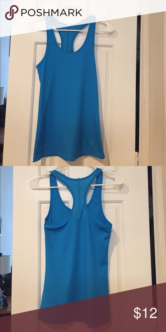 Under armour racerback tank Fitted. Tags removed due to itching. Size M. Under Armour Tops Tank Tops