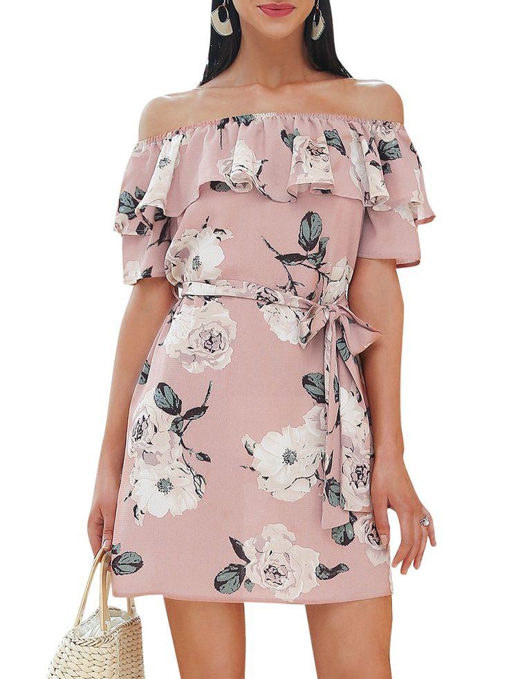 Missy Chilli Damen Kurz Kleid Sommer Boho Elegant Süßes ...