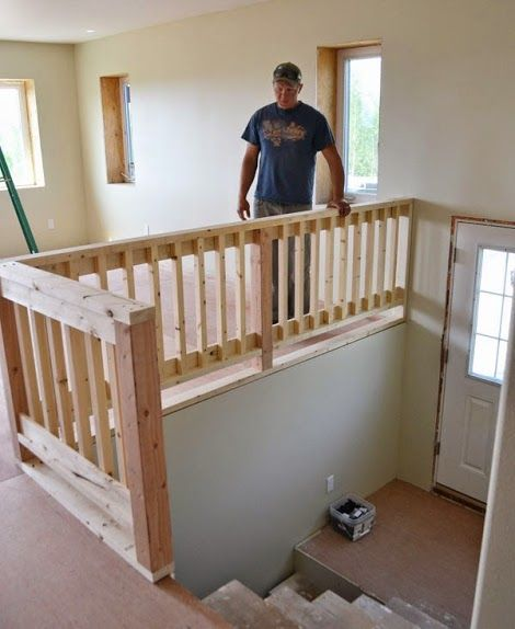Free plans for a wood handrail. I'm so glad I found this. Railings are expensive!