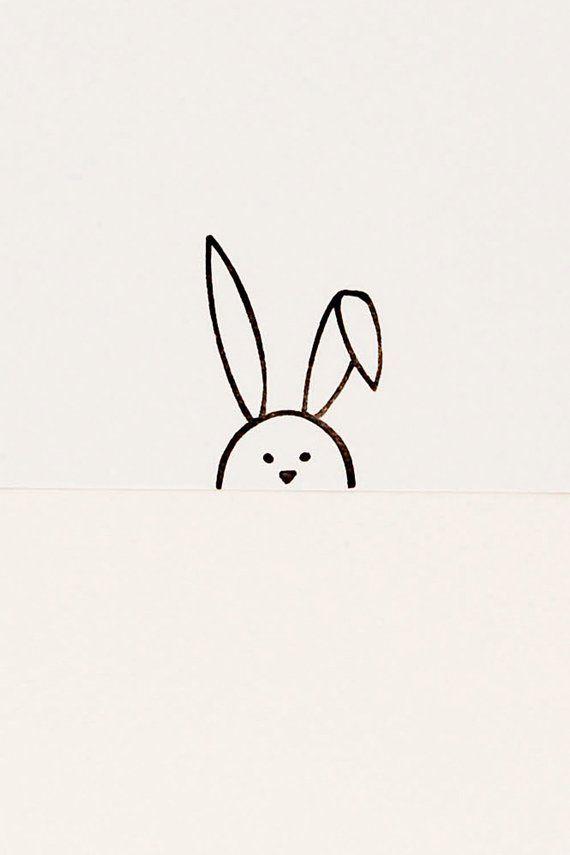Floppy bunny stamp, Easter gift, bunny birthday gift, bunny kids gift, minimalist stamp, rabbit stamp, peekaboo stamp, rabbit lover gift